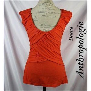 Anthropologie Orange Deletta excellent condition
